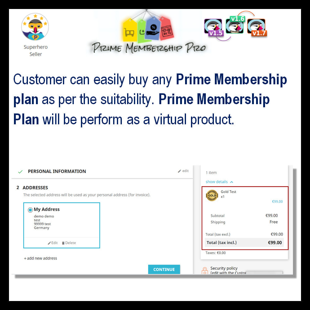 module - Recurring payment (subscription) - Prime Membership Pro - 13