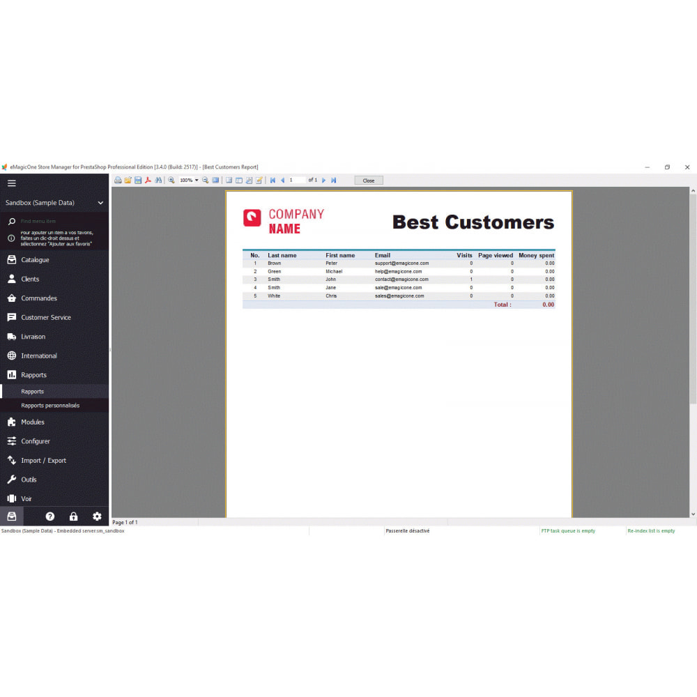 module - Connexion à un logiciel tiers (CRM, ERP...) - Store Manager - 6