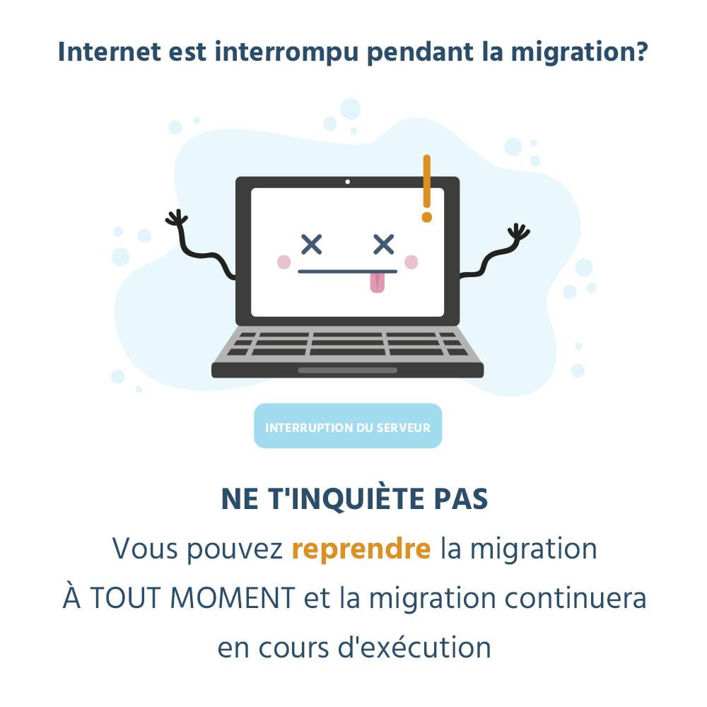 module - Migration de Données & Sauvegarde - 1 CLIQUEZ pour migrer ou mettre à niveau - 7