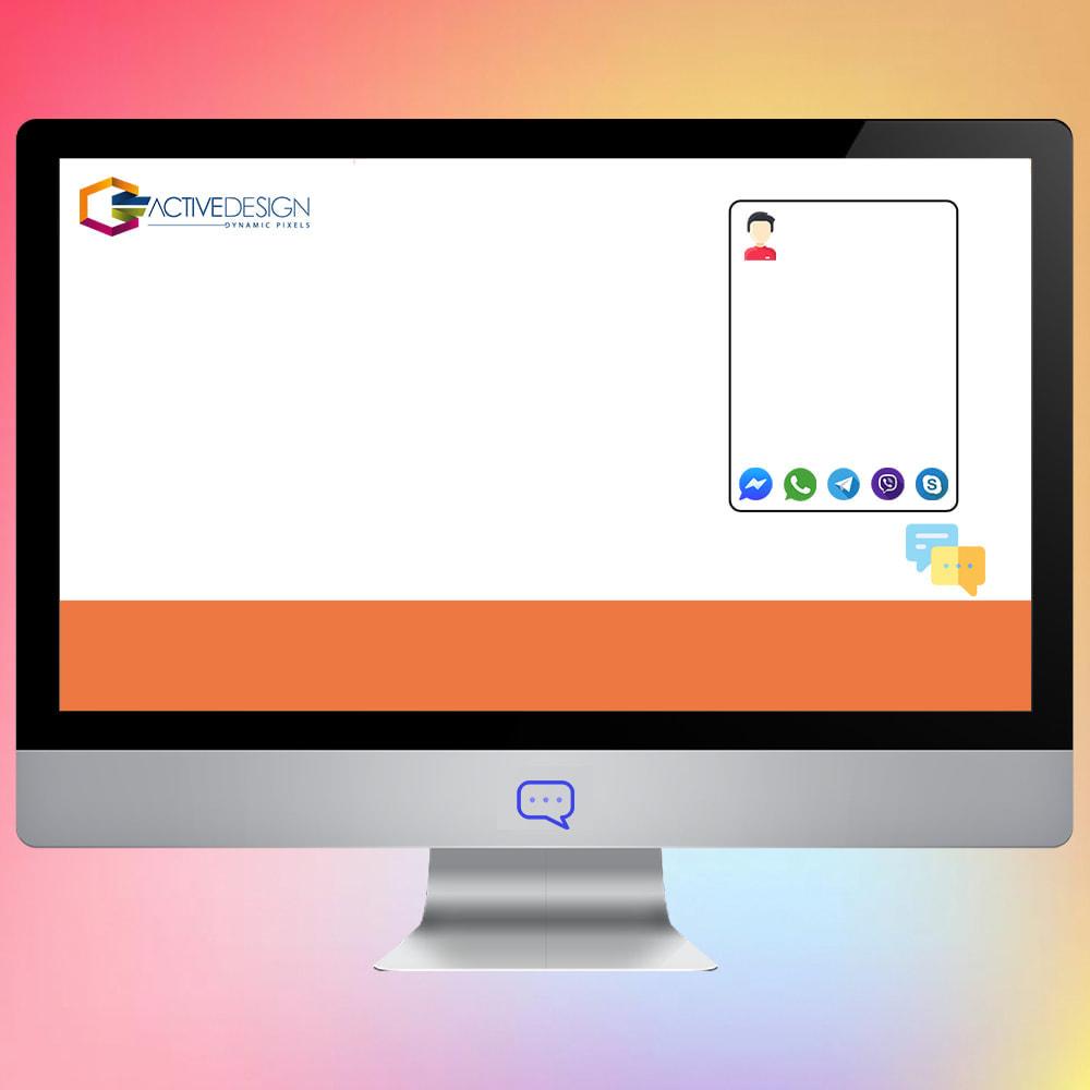 module - Поддержка и онлайн-чат - All in one chat Whatsapp/Messenger/Skype/Telegram/Viber - 1
