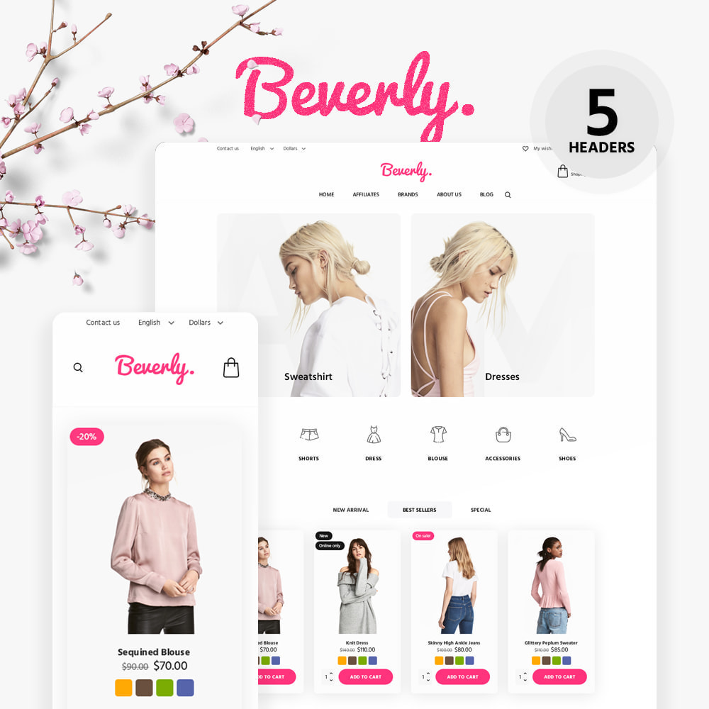theme - Fashion & Shoes - Beverly Fashion Store - 1