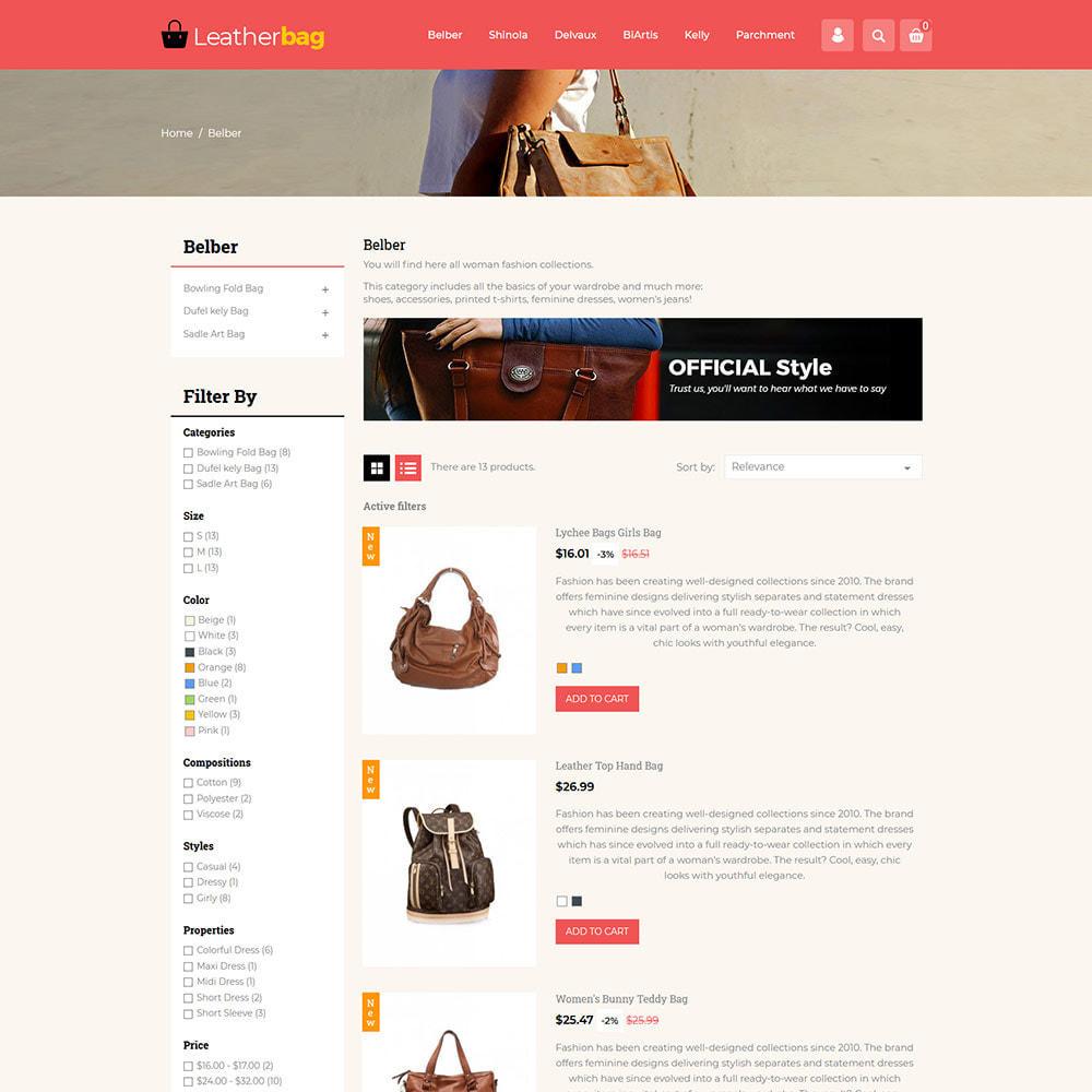 theme - Fashion & Shoes - Handbag Leather - Bag Purses Fashion Store - 4