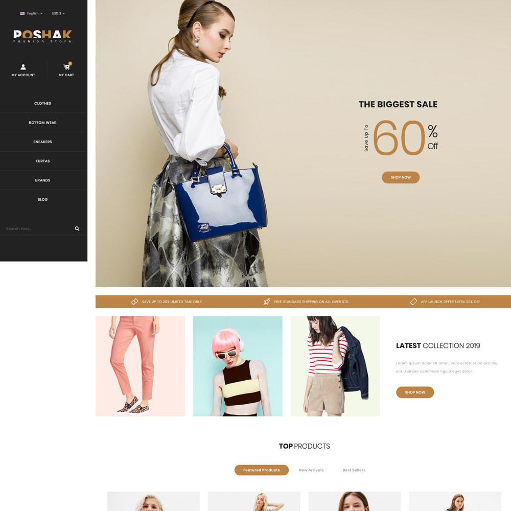 theme - Fashion & Shoes - Poshak - Fashion Shop - 2