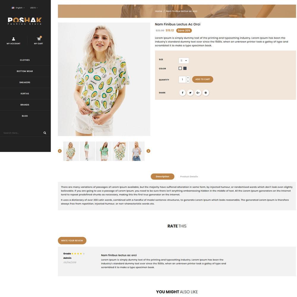 theme - Fashion & Shoes - Poshak - Fashion Shop - 4