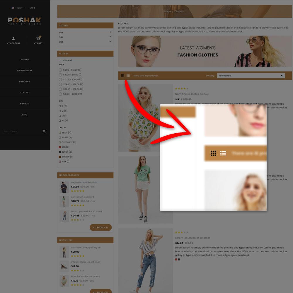 theme - Fashion & Shoes - Poshak - Fashion Shop - 5