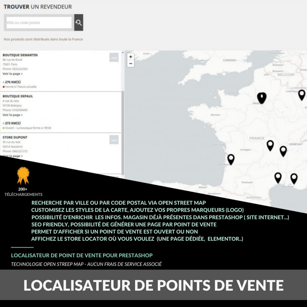 module - Afhaalpunt - Pro Store locator SEO (free no Google Maps) - 1