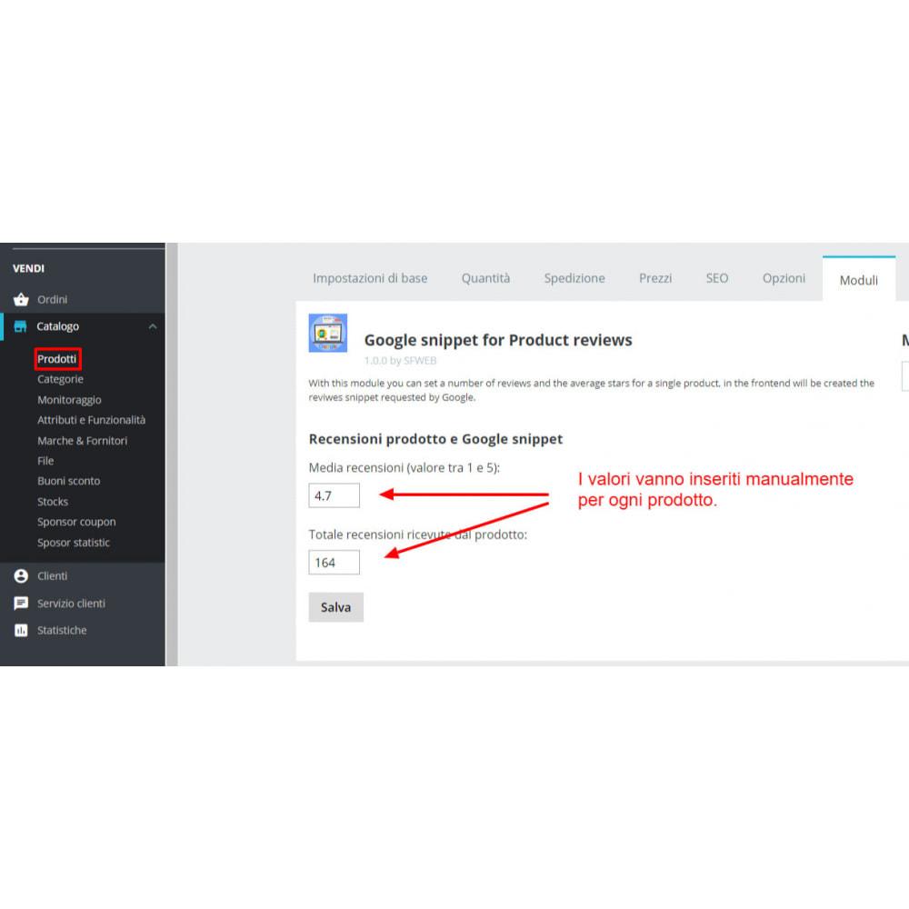 module - Recensioni clienti - Snippet Dati Strutturati Google per Recensioni prodotti - 4