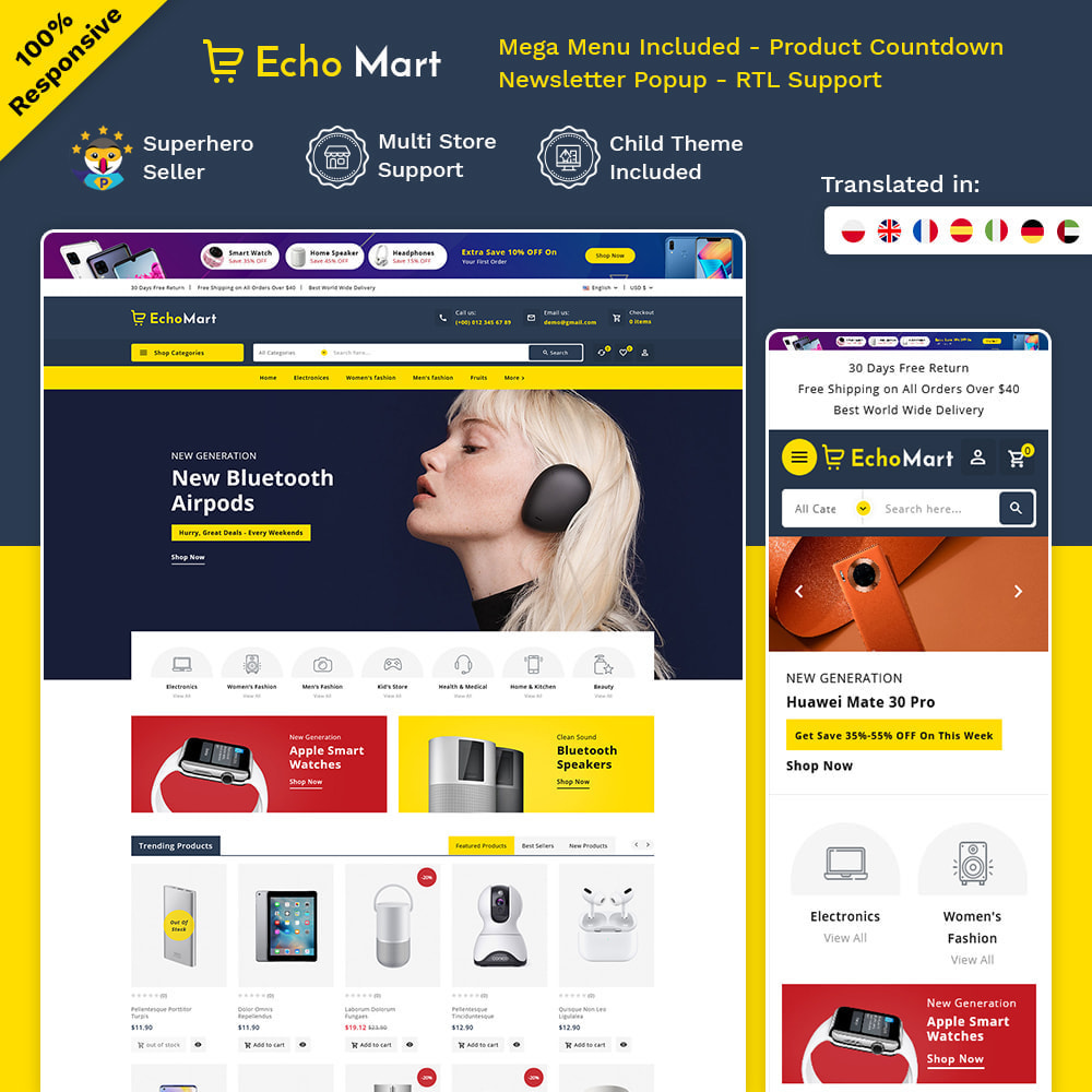 theme - Electronique & High Tech - Echomart - Electronic Super Store - 1