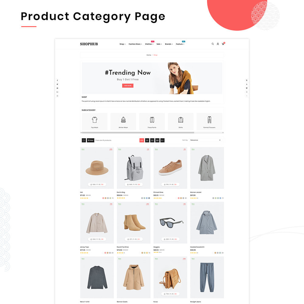 theme - Mode & Schuhe - SHOPHUB Mega Style–Fashion Minimal–Modern Super Store - 3