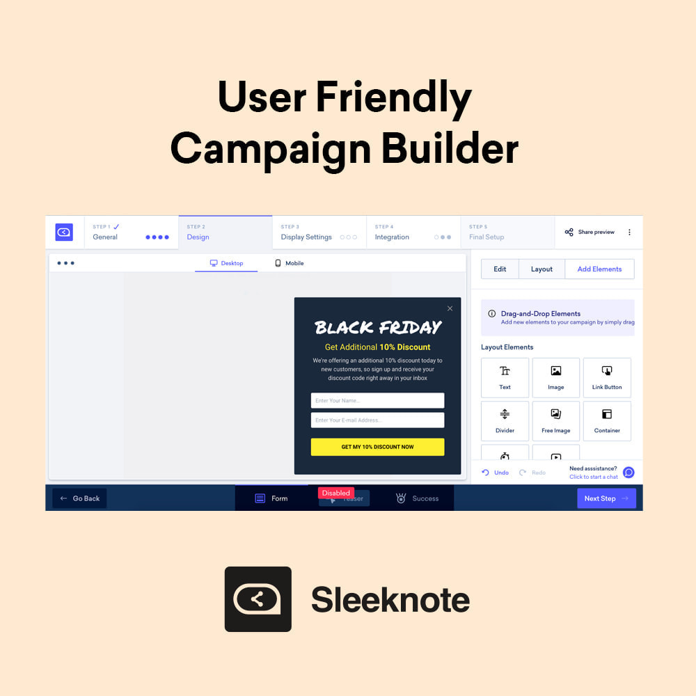 module - E-mails & Notifications - Sleeknote – Ultimate Email Leads Builder - 3