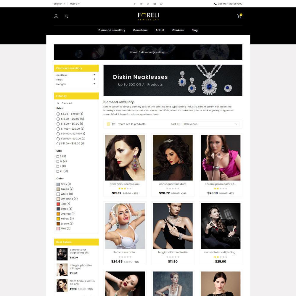 theme - Bijoux & Accessoires - Foreli - Jewellery Store - 3