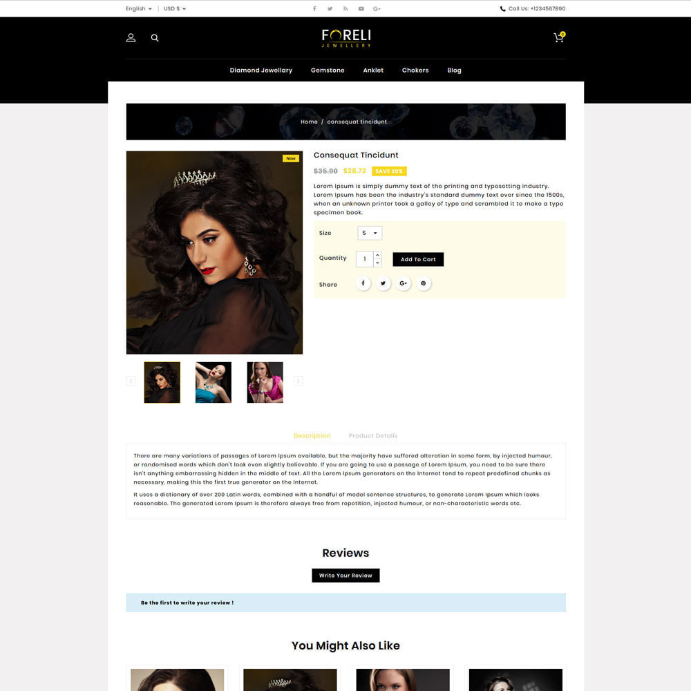 theme - Bijoux & Accessoires - Foreli - Jewellery Store - 4