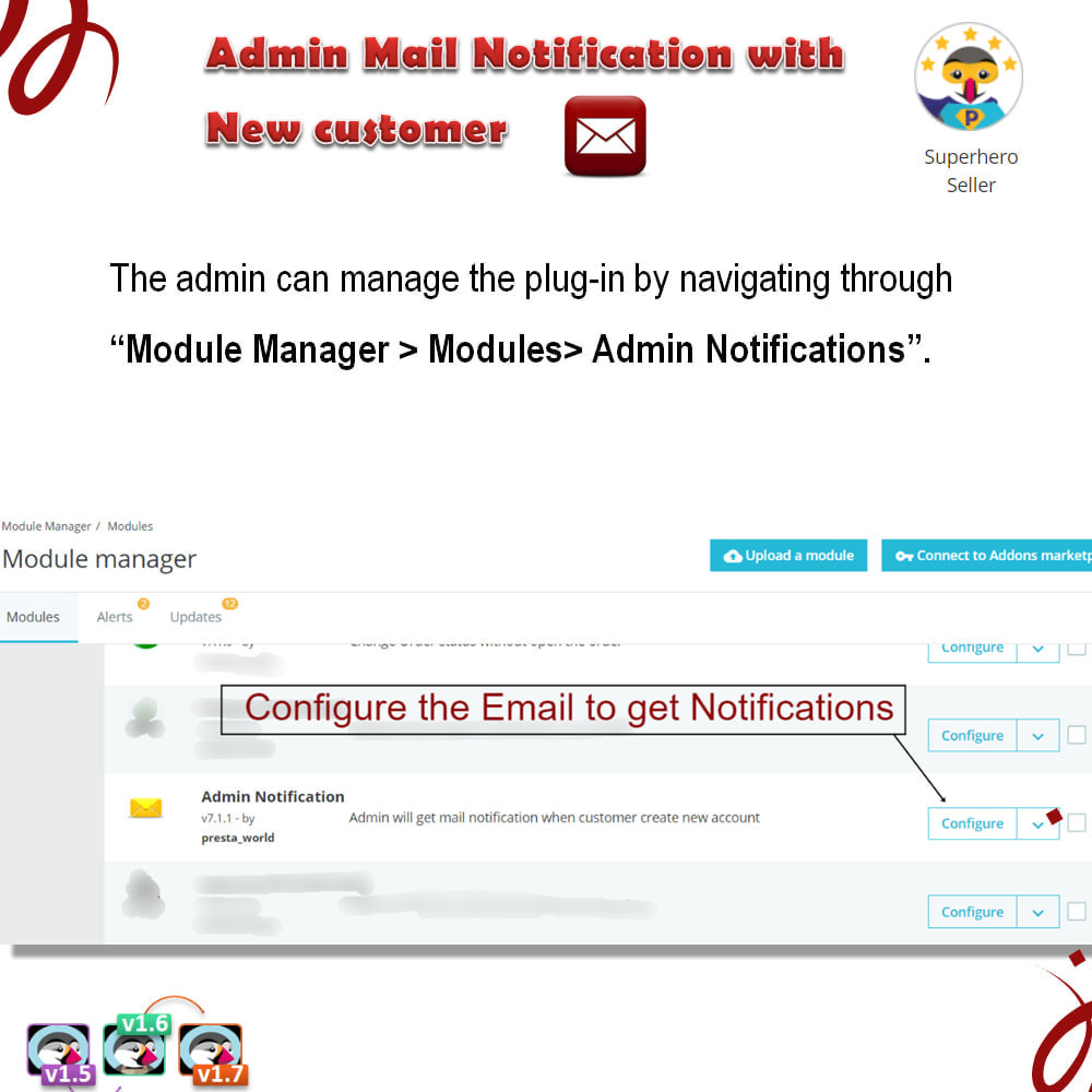 module - Email & Notifiche - Admin Mail Notification With New Customer - 3