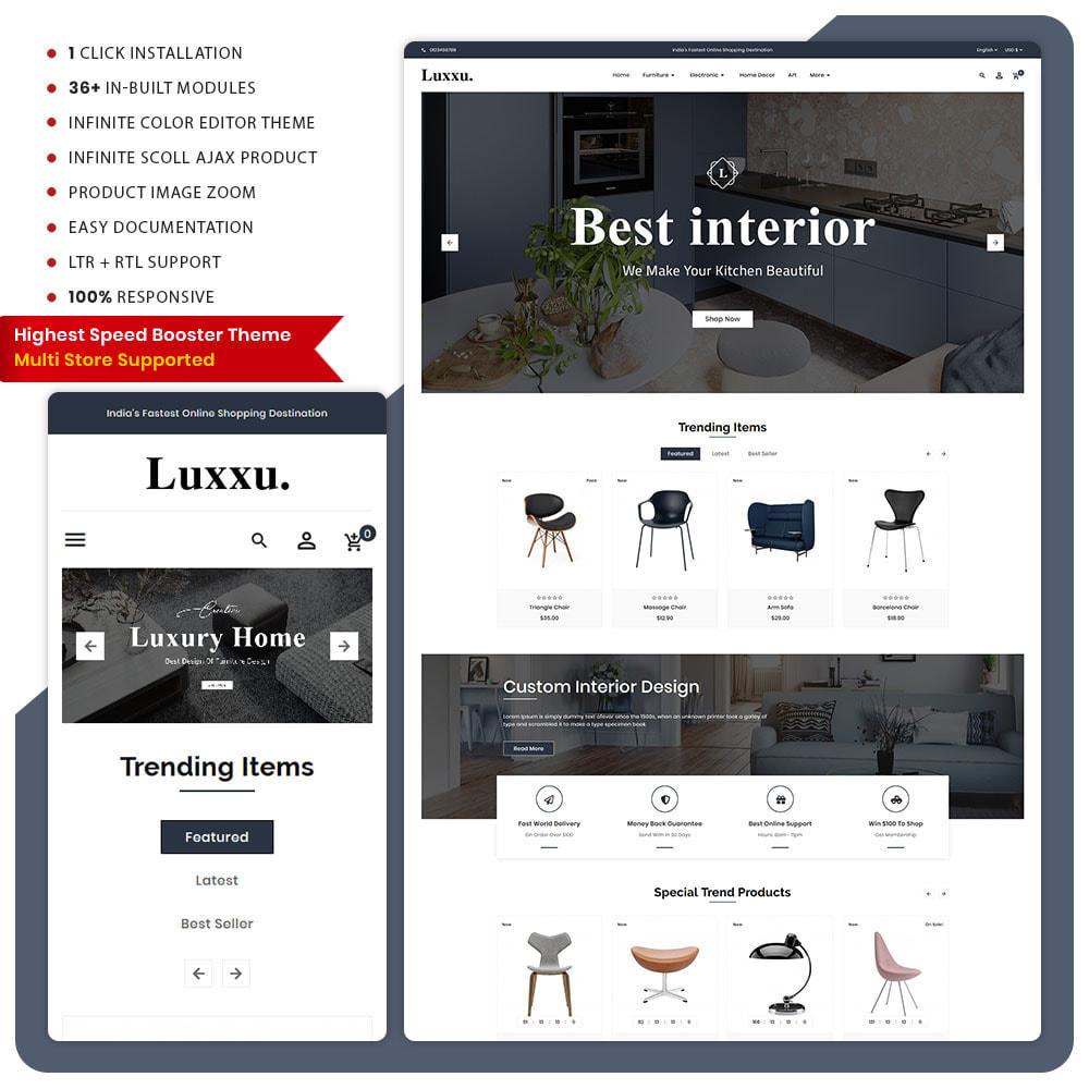 theme - Home & Garden - Luxxu Furni– Furniture Mega Store - 1