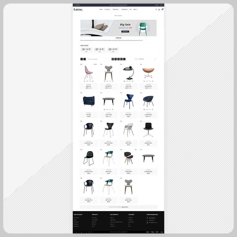 theme - Home & Garden - Luxxu Furni– Furniture Mega Store - 3