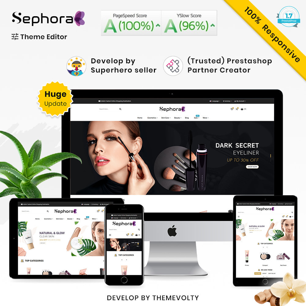theme - Здоровье и красота - Sephora Mega Bio–Cosmetics Health–Beauty Super Store - 1