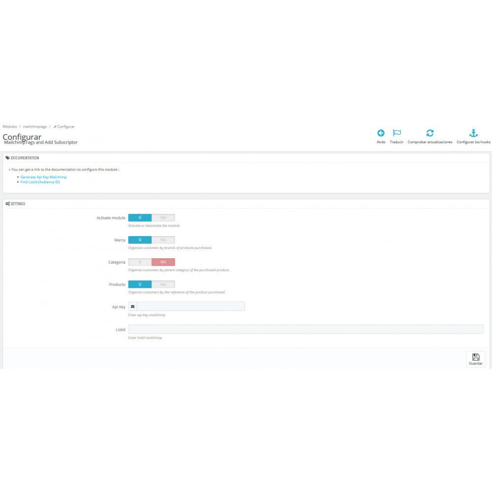 module - Brands & Manufacturers - MailchimpTags and Add Subscriptor - 2