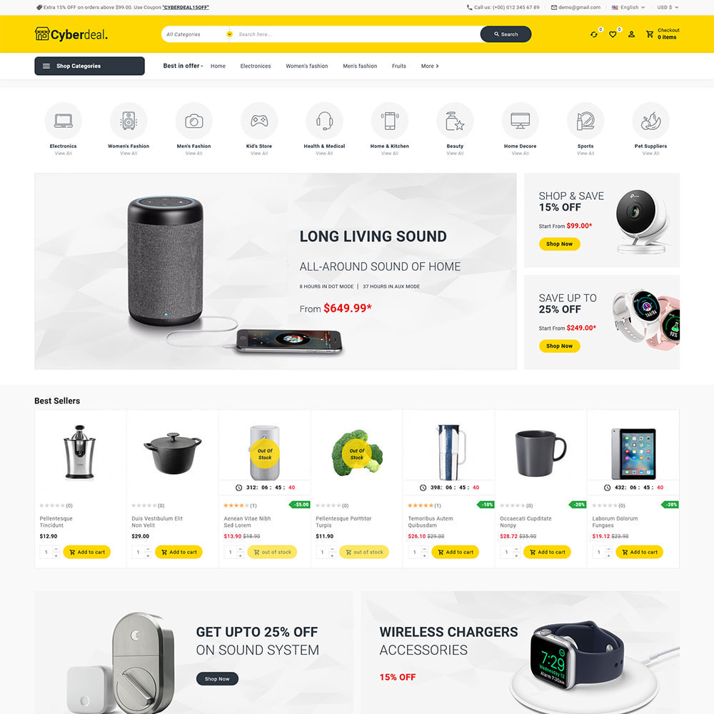 theme - Electronique & High Tech - Cyberdeal - Electronic Super Store - 4