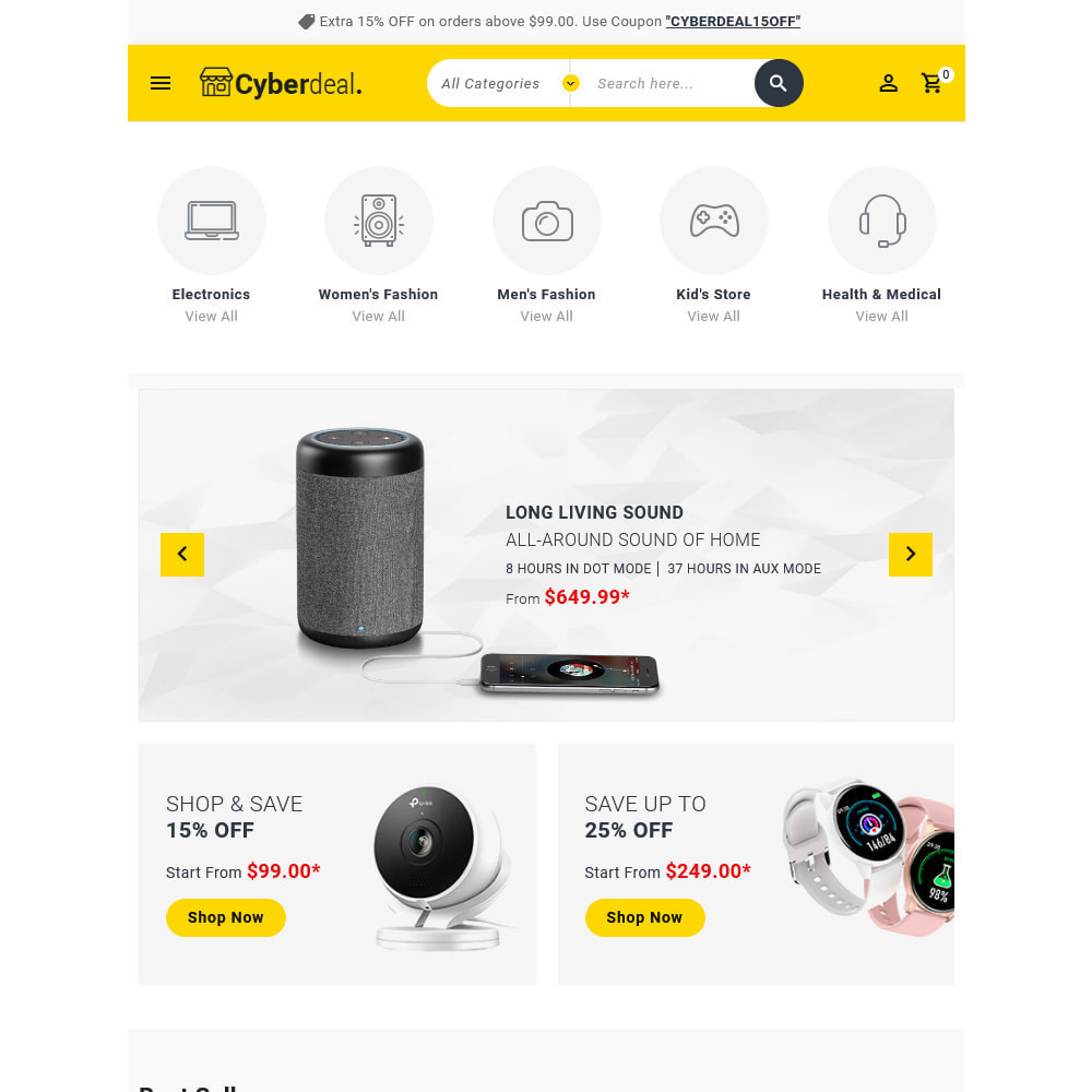 theme - Electronique & High Tech - Cyberdeal - Electronic Super Store - 18