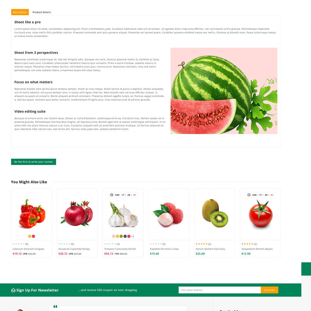theme - Alimentos & Restaurantes - Organics - Fresh Food Delivery Store - 10
