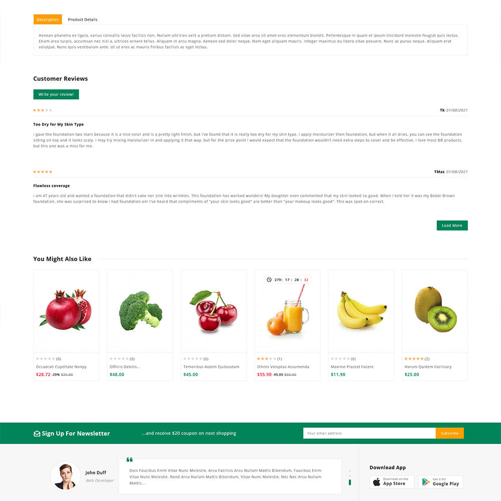 theme - Alimentation & Restauration - Organics - Fresh Food Delivery Store - 11