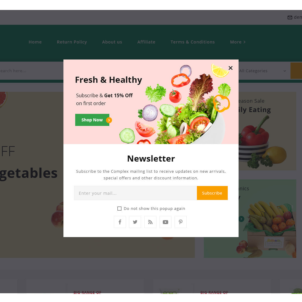theme - Alimentation & Restauration - Organics - Fresh Food Delivery Store - 14