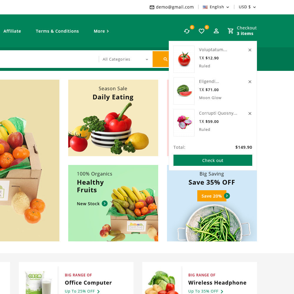 theme - Alimentation & Restauration - Organics - Fresh Food Delivery Store - 16