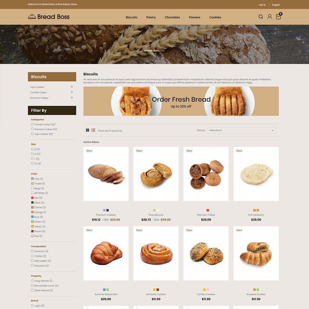 theme - Food & Restaurant - Breadboss Food - Bread Loaf Burger Pizza  Store - 3