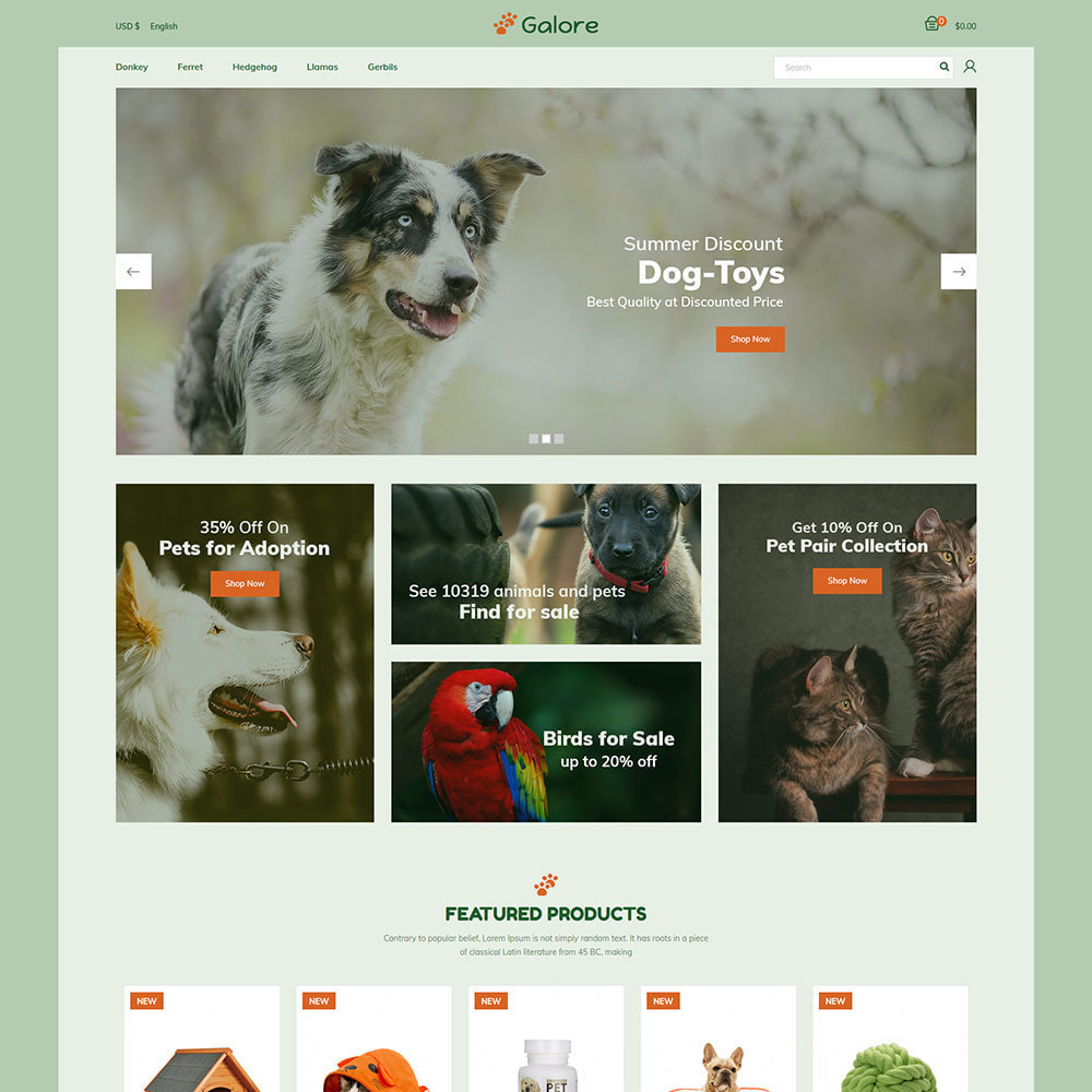 theme - Animals & Pets - Animal Pet -  Food  Cat  Supplies Store - 2