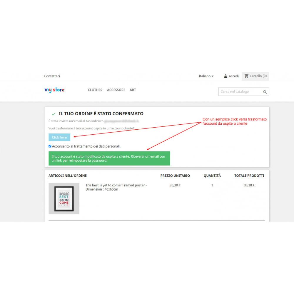 module - Gestione clienti - Trasforma l'account ospite in account cliente - 4