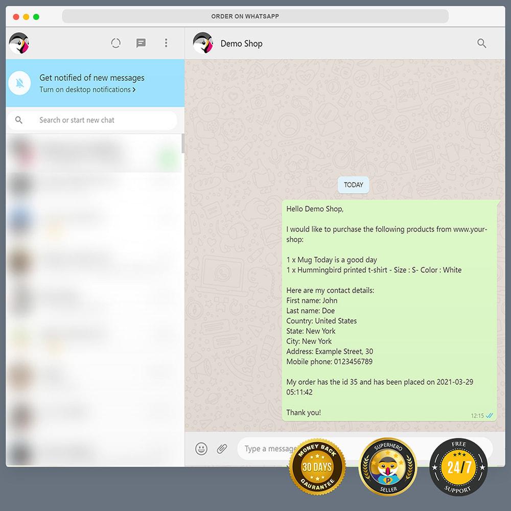 module - Support & Chat Online - Intégration WhatsApp PRO - Commande rapide, chat,agents - 12