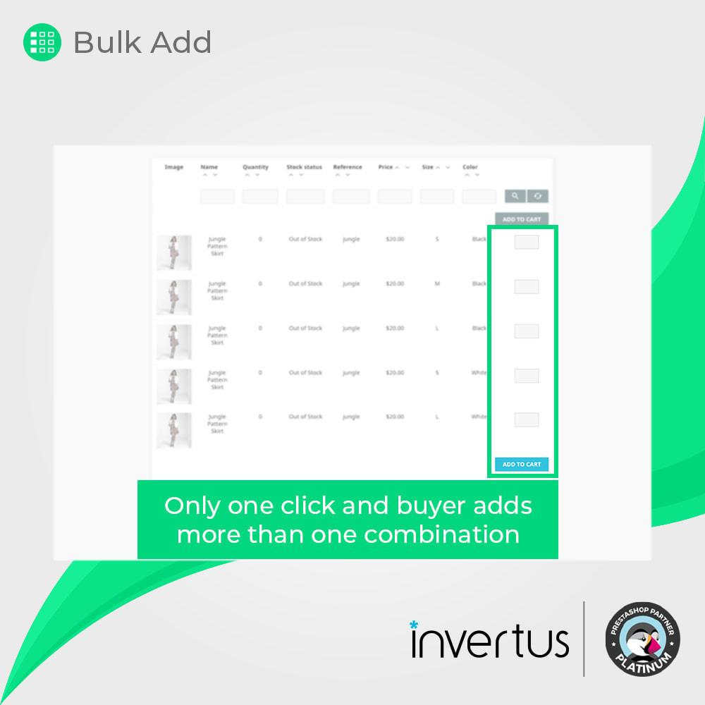 module - Combinaciones y Personalización de productos - Tabla de atributos simple: para producto - 4