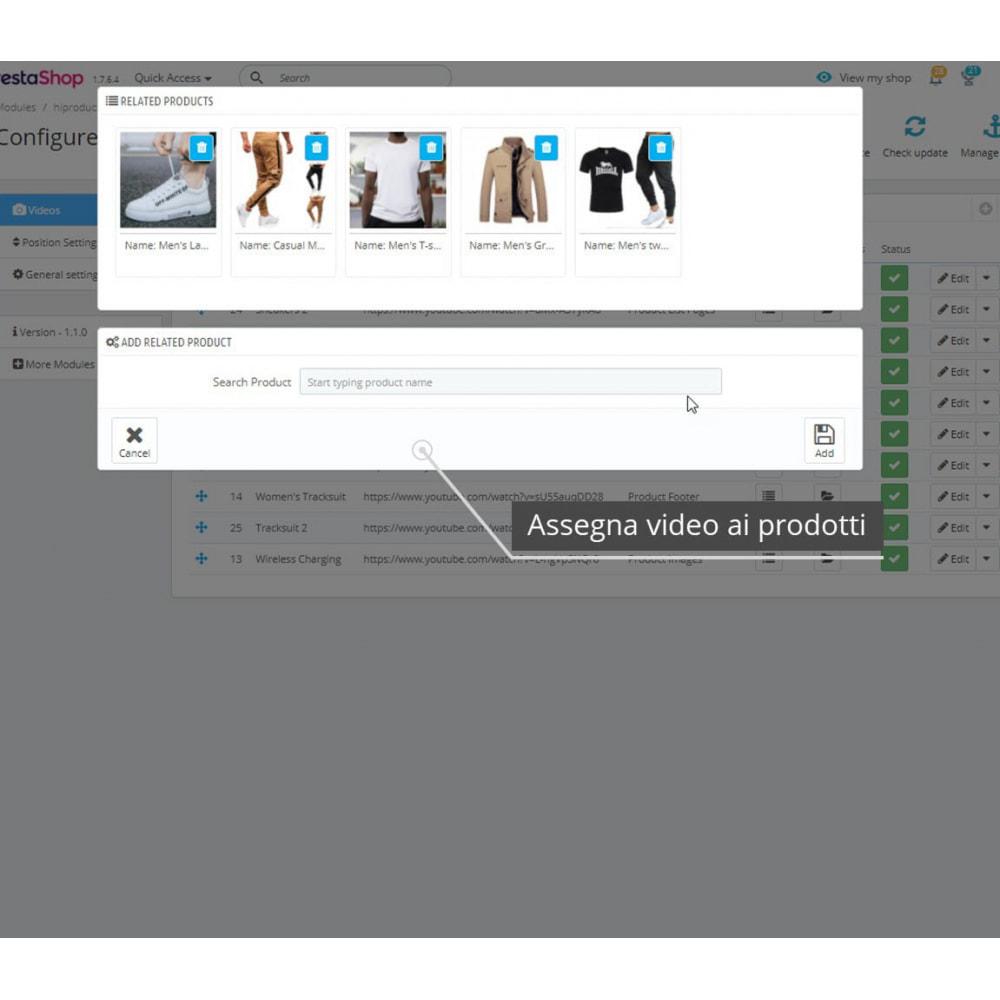 module - Video & Musica - Video dei prodotti - Youtube / Vimeo - 7