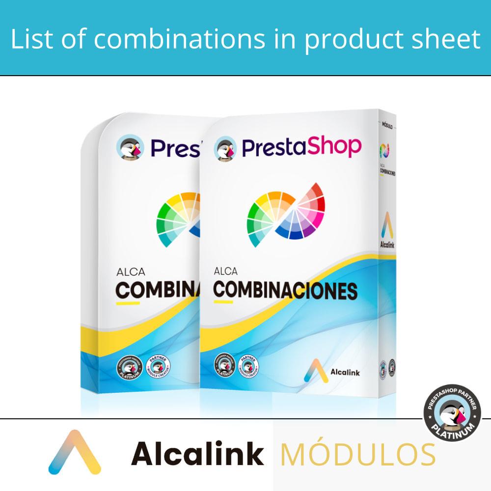 module - Deklinacje & Personalizacja produktów - List of combinations in product sheet - 1
