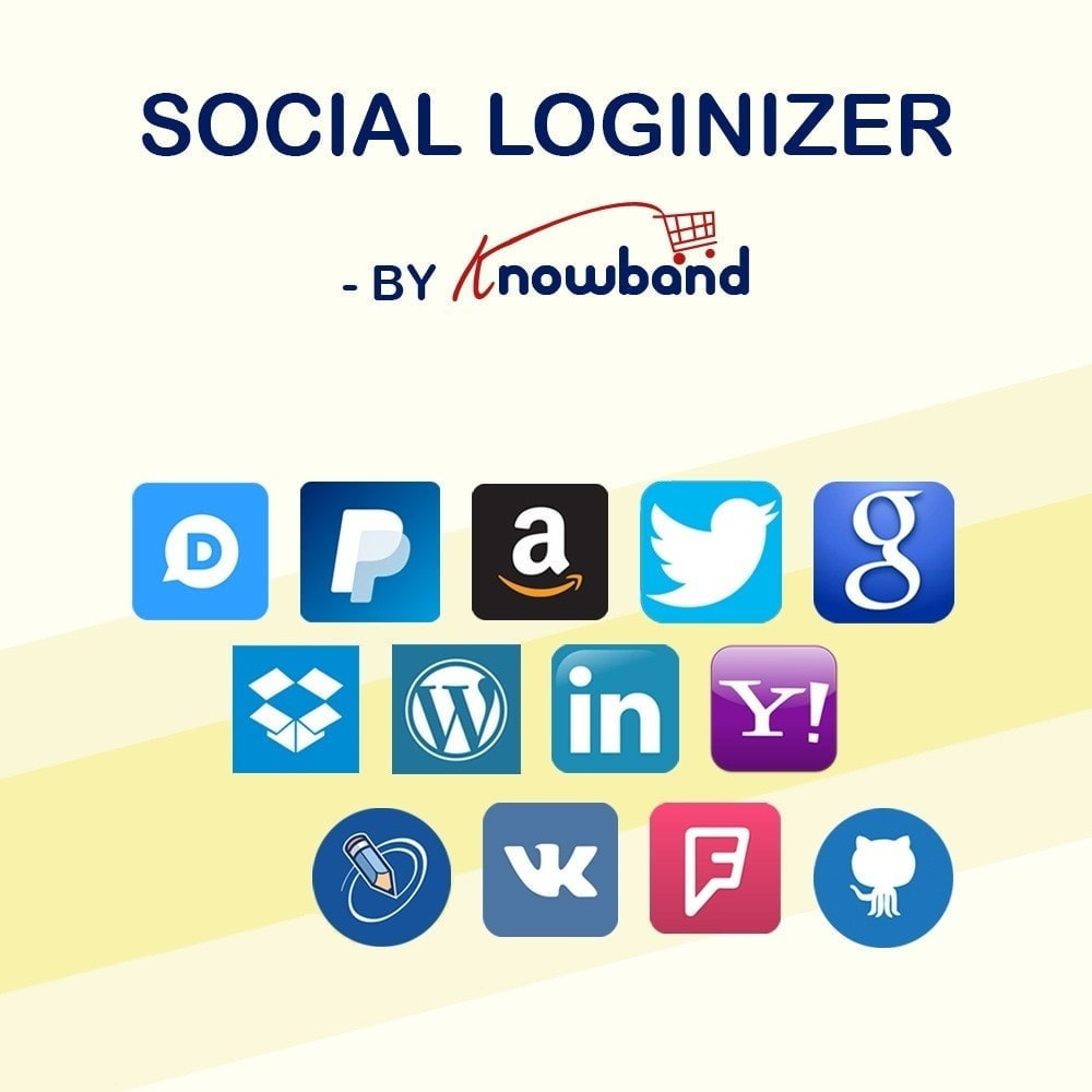 module - Boutons Login & Connect - Knowband- SocialLogin,14 en 1,Statistiques et MailChimp - 1