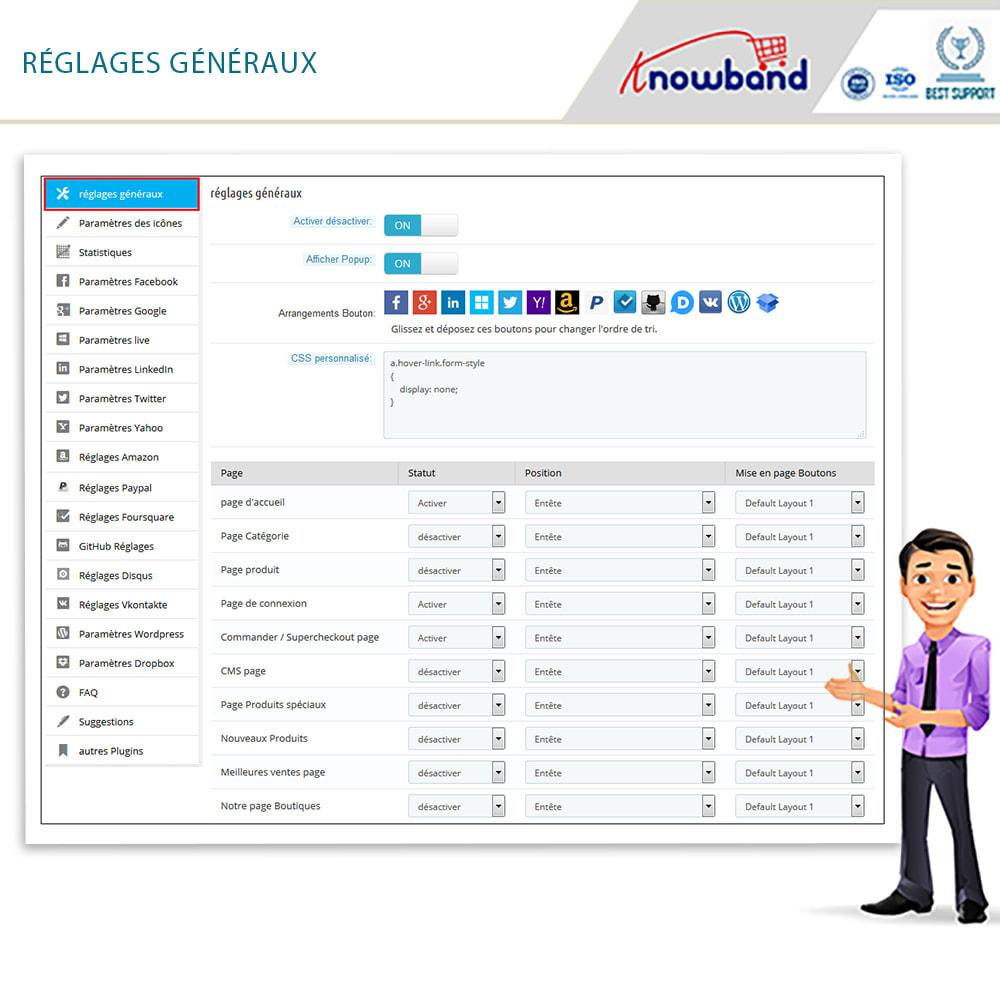 module - Boutons Login & Connect - Knowband- SocialLogin,14 en 1,Statistiques et MailChimp - 5