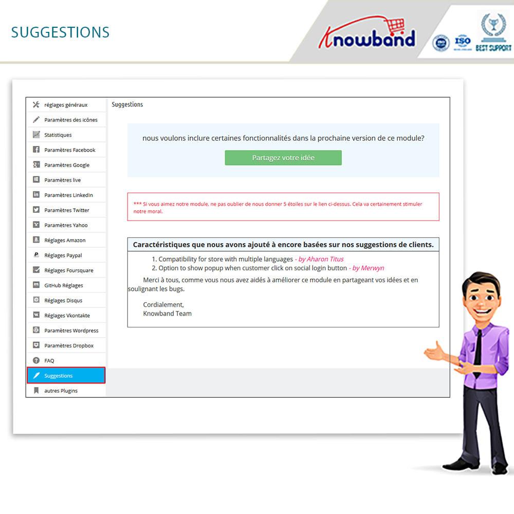 module - Boutons Login & Connect - Knowband- SocialLogin,14 en 1,Statistiques et MailChimp - 18