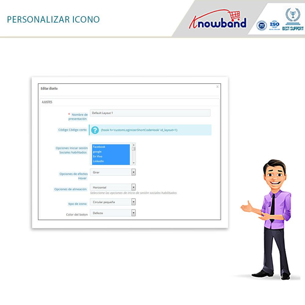 module - Botones de inicio de Sesión/Conexión - Knowband-Acceso Social 14 in 1,Estadísticas & MailChimp - 20