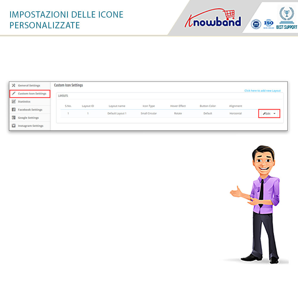 module - Login/Connessione - Knowband - Social Login 14 in 1,Statistiche & MailChimp - 5