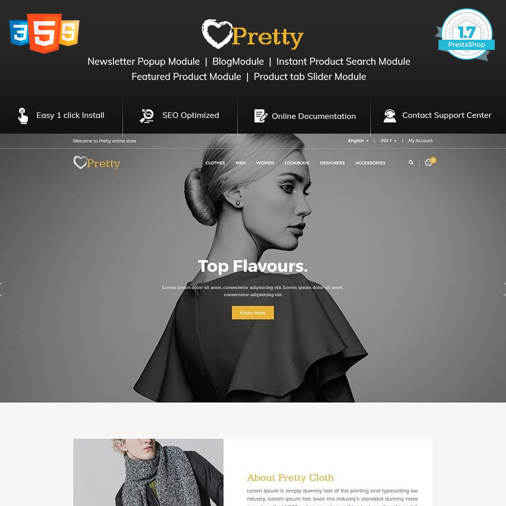 theme - Moda & Calzature - Pretty Fashion - Women Designer Cloth Store - 1