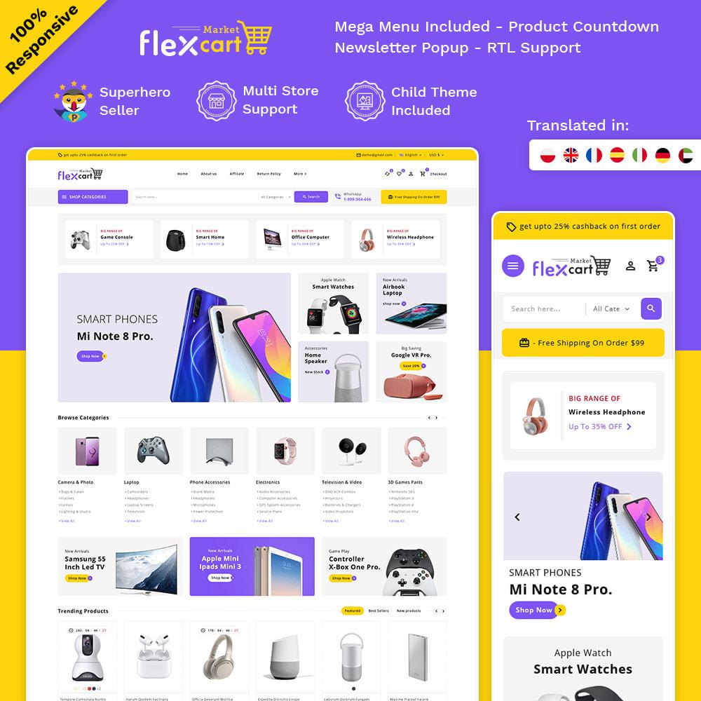 theme - Electrónica e High Tech - Flexcart - Mega Electronic Super Store - 1