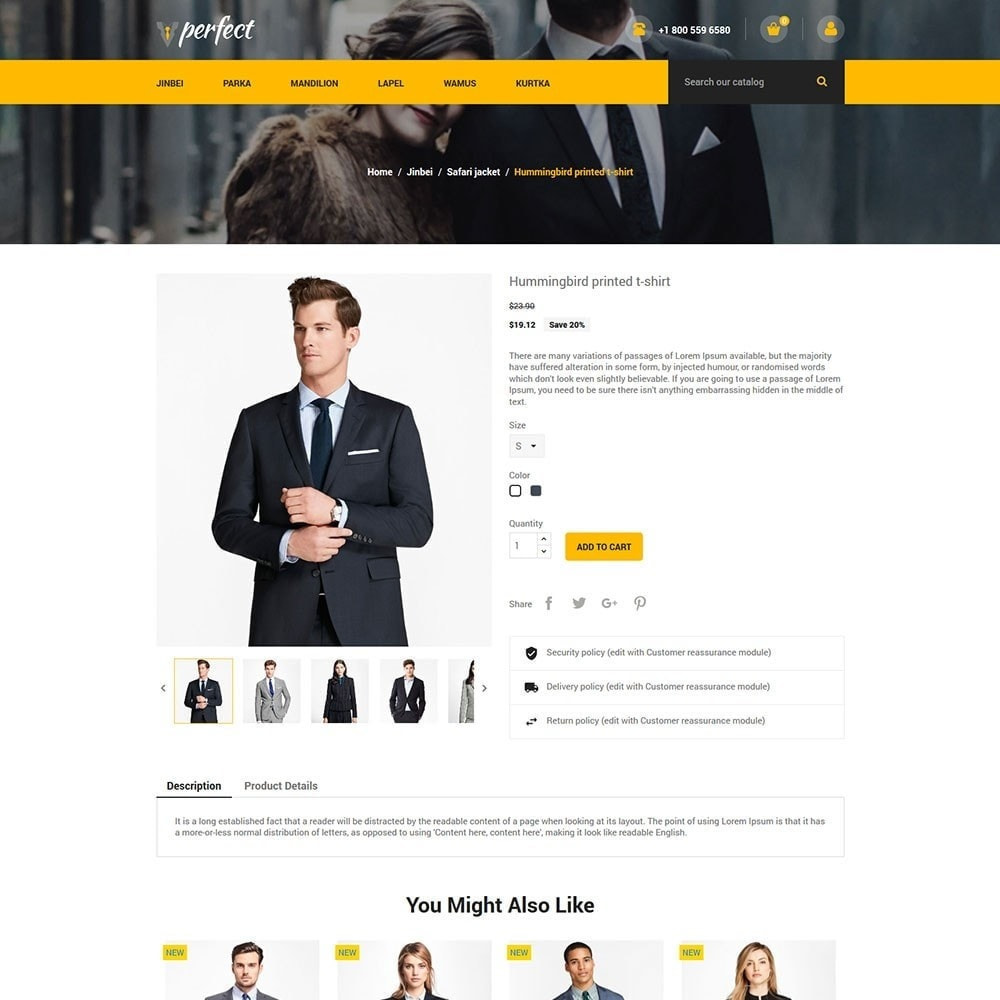 theme - Mode & Chaussures - Perfect Suit - Fashion Designer Blazer Store - 5