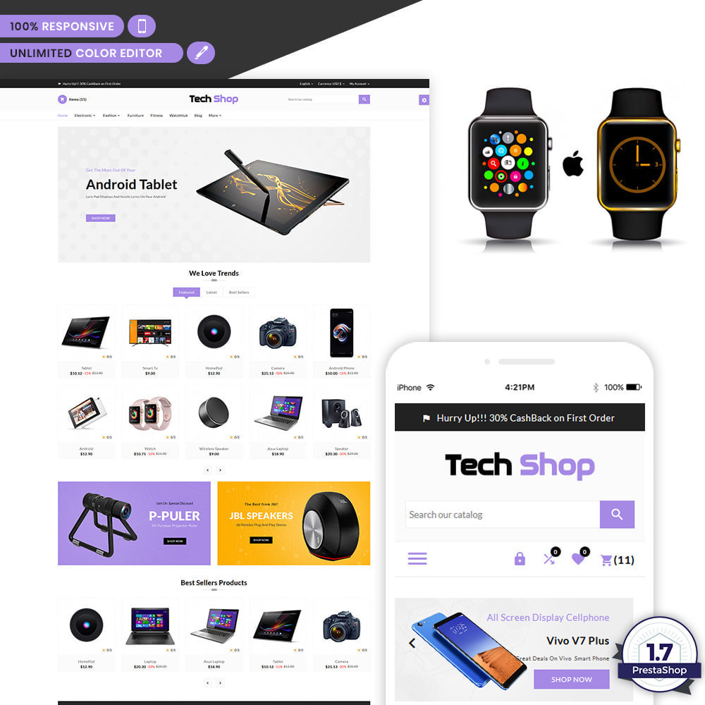 theme - Electronique & High Tech - Tech Shop Electronic Store - 1