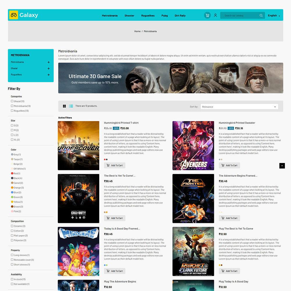 theme - Enfants & Jouets - Galaxy Game - Magasin de jouets pour jeux numériques - 5