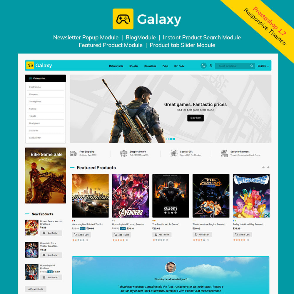 theme - Bambini & Giocattoli - Galaxy Game Zone - Negozio di giochi digitali - 2
