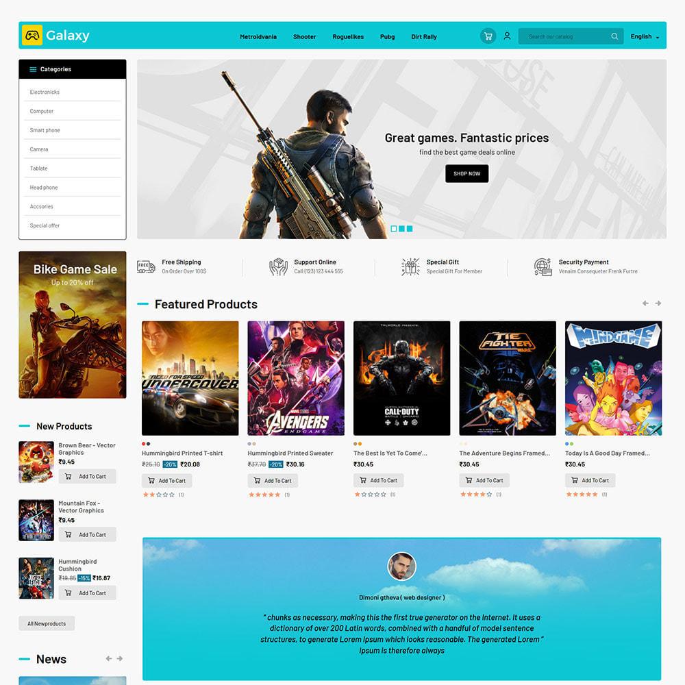 theme - Bambini & Giocattoli - Galaxy Game Zone - Negozio di giochi digitali - 3