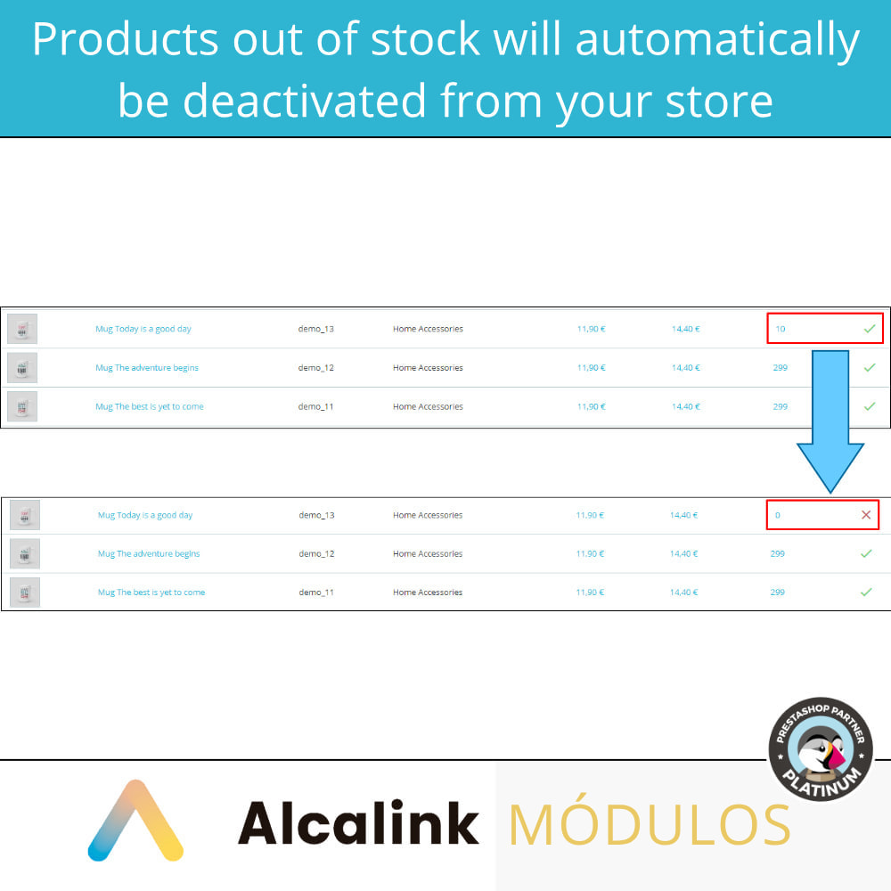 module - Stock & Supplier Management - Activate/deactivate products without stock or image - 3