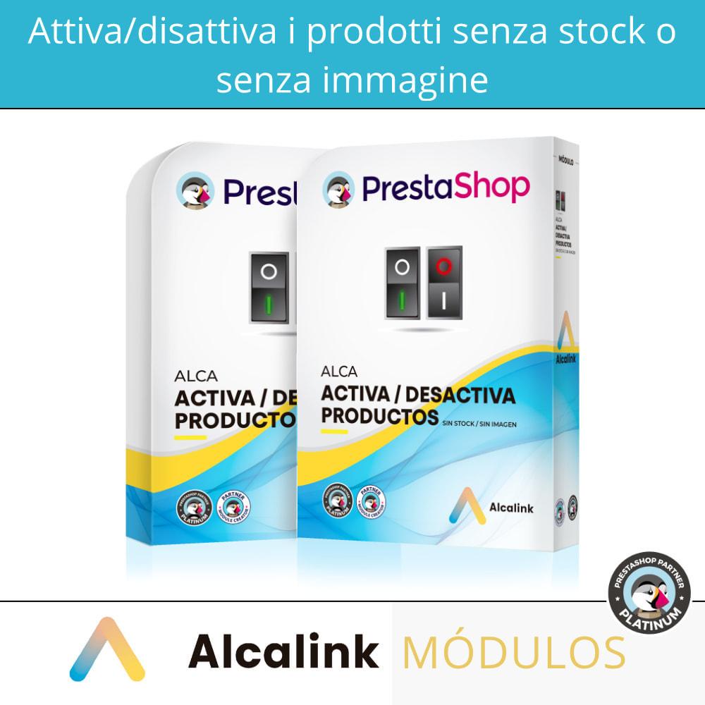 module - Gestione Scorte & Fornitori - Attiva/disattiva i prodotti senza stock o immagine - 1