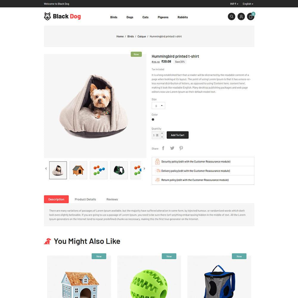 theme - Zwierzęta - Black Dog - Sklep z karmą dla zwierząt domowych dla - 6