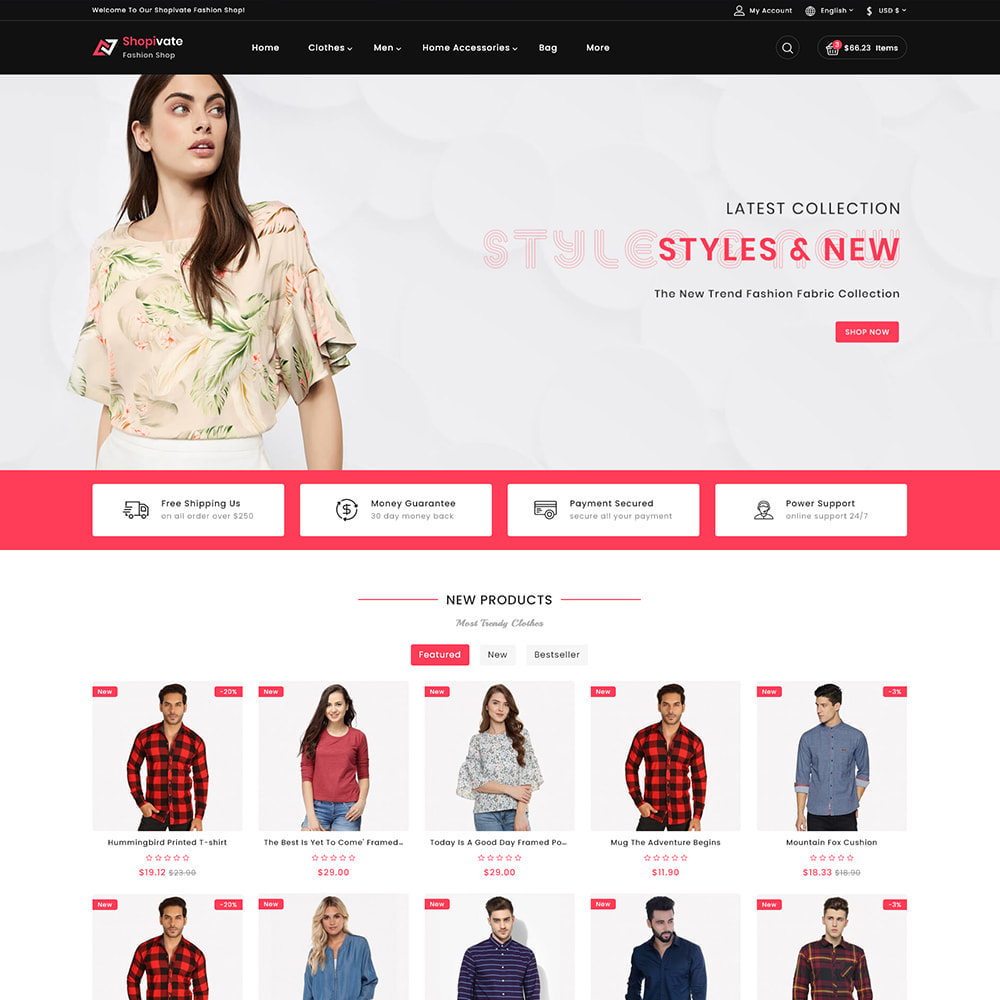 theme - Moda & Calçados - Shopivate -  The Fashion Shop - 2